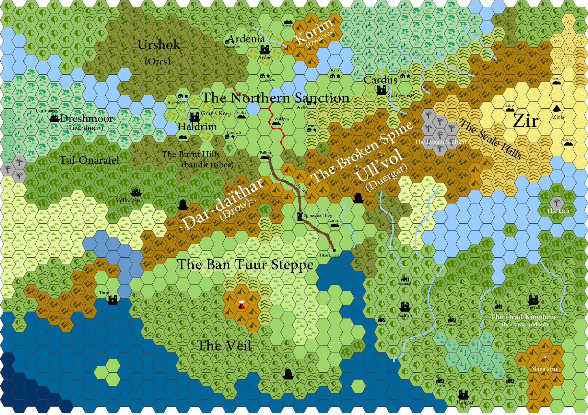 Hexographer World Map.Let S Build A World Together Youtube